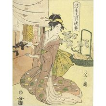 Hosoda Eishi: PASSING VIEW OF THE 12 MONTHS THE END OF SPRING. - Harvard Art Museum