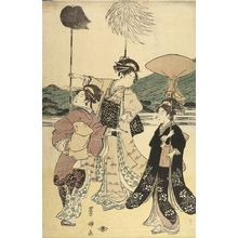 Utagawa Toyokuni I: PROCESSION OF WOMEN UNDER MT. FUJI (SET OF FIVE PRINTS) - Harvard Art Museum