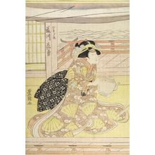 Utagawa Toyokuni I: ACTOR AS WOMAN SEATED WITH TEAPOT - Harvard Art Museum
