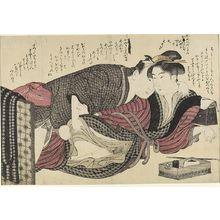勝川春潮: Erotic Scene, Edo period, circa 1780-1790 - ハーバード大学
