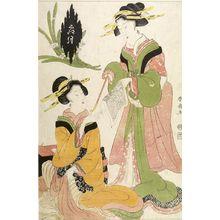 Katsukawa Shunsen: SHIMOZUKI (NOVEMBER) - Harvard Art Museum