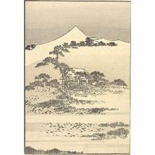 Katsushika Hokusai: Fuji from Snake-Crossing Swamp (Jaoinuma no Fuji): Detatched page from One Hundred Views of Mount Fuji (Fugaku hyakkei) Vol. 3, Edo period, circa 1835-1847 - Harvard Art Museum