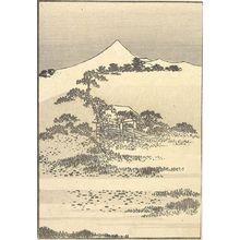 葛飾北斎: Fuji from Snake-Crossing Swamp (Jaoinuma no Fuji): Detatched page from One Hundred Views of Mount Fuji (Fugaku hyakkei) Vol. 3, Edo period, circa 1835-1847 - ハーバード大学