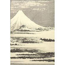 Katsushika Hokusai: Fuji Under Clear Skies (Kasei no Fuji): Detatched page from One Hundred Views of Mount Fuji (Fugaku hyakkei) Vol. 1, Edo period, 1834 (Tempô 5) - Harvard Art Museum