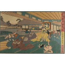 歌川国貞: Act Three from the series Treasury of Loyal Retainers (Chûshingura: San danme), Edo period, circa 1847-1852 (Kôka 4-Kaei 5) - ハーバード大学