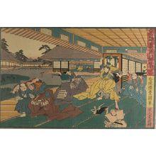 Utagawa Kunisada: Act Three from the series Treasury of Loyal Retainers (Chûshingura: San danme), Edo period, circa 1847-1852 (Kôka 4-Kaei 5) - Harvard Art Museum