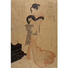 Kikugawa Eizan: Washing the Manuscript, from the series Refined Beauties as the Seven Komachi (Fûryû bijin nana Komachi: Soshi arai Komachi), Late Edo period, circa 1804 - Harvard Art Museum