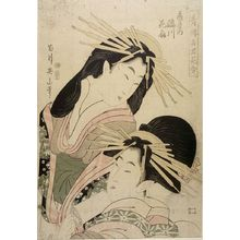 Hosoda Eishô: Courtesan Hinazuru of the Chôjiya (Chôjiya Hinazuru) - Harvard Art Museum