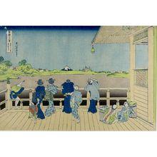 葛飾北斎: Sazai Hall of the Five-Hundred-Rakan Temple in Edo (Gohyaku Rakan-ji Sazaidô), from the series Thirty-Six Views of Mount Fuji (Fugaku sanjûrokkei), Late Edo period, circa 1829-1833 - ハーバード大学