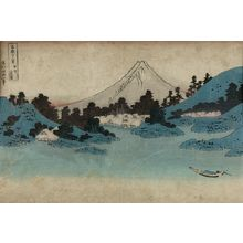 Katsushika Hokusai: Reflection in Lake Misaka, Kai Province (Kôshû Misaka suimen), from the series Thirty-Six Views of Mount Fuji (Fugaku sanjûrokkei) - Harvard Art Museum