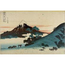 葛飾北斎: Inume Pass in Kai Province (Kôshû Inume tôge), fromt he series Thirty-Six views of Mount Fuji (Fugaku sanjûrokkei) - ハーバード大学