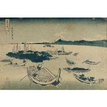 Katsushika Hokusai: Tsukuda Island in Musashi Province (Buyô Tsukuda-jima), from the series Thirty-Six Views of Mount Fuji (Fugaku sanjûrokkei) - Harvard Art Museum
