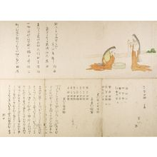 窪俊満: Two Court Ladies Skeining Silk, with five poems by actors and associates, Edo period, circa 1806 (Bunka 3) or 1815 (Bunsei 1) - ハーバード大学
