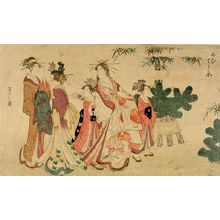 Hosoda Eishi: Courtesans and Kamuro in New Year's Attire - Harvard Art Museum
