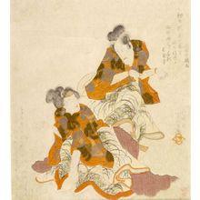 歌川国貞: Actors Ichikawa Danjûrô 7th (right) and Segawa Kikunojô 5th, Edo period, circa 1818-1822 (early Bunsei era) - ハーバード大学