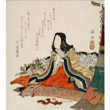 Keisai Eisen: COURT LADY PREPARING TO PLAY THE KOTO - Harvard Art Museum