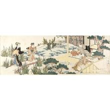 Utagawa Kuninaga: Garden Party in the Iris Garden - Harvard Art Museum