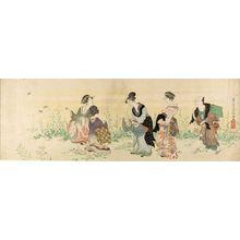 Kubo Shunman: Gathering Rape Seed (Natane tsume), Edo period, circa 1790-1799 - Harvard Art Museum