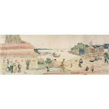 Ichiensai Kuninao: View of the Honjo Lumber Yard - Harvard Art Museum