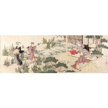 歌川國長: Garden Party in the Iris Garden - ハーバード大学