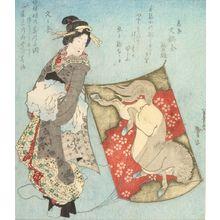 Katsushika Taito: Geisha and Kite - ハーバード大学