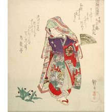 Yanagawa Shigenobu: Dancing Girl and Violets - Harvard Art Museum