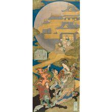Totoya Hokkei: Zhangsheng Palace (Chôseiden), spring kyôka surimono, Edo period, 1831 - Harvard Art Museum