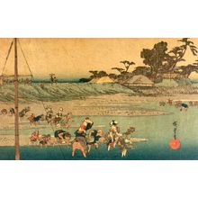 Unknown: Figures Wading in the River - Harvard Art Museum