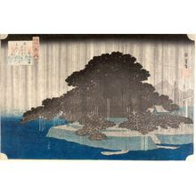 Utagawa Hiroshige: Night Rain at Karasaki (Karasaki no yau), from the series From the Eight Views of Lake Biwa (ômi hakkei no uchi), Late Edo period, circa 1834 - Harvard Art Museum