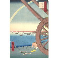 Utagawa Hiroshige: Ox Fair, Takanawa (Takanawa Ushimachi), Number 81 from the series One Hundred Famous Views of Edo (Meisho Edo hyakkei), Edo period, dated 1857 (4th month) - Harvard Art Museum