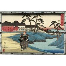 Utagawa Hiroshige: Act Four from the series Treasury of Loyal Retainers (Chûshingura: Yon danme), Late Edo period, circa 1843-1845 - Harvard Art Museum