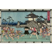 歌川広重: Act Three from the series Treasury of Loyal Retainers (Chûshingura: San danme), Late Edo period, circa 1843-1845 - ハーバード大学