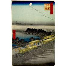 歌川広重: Nihon Embankment, Yoshiwara (Yoshiwara Nihonzutsumi), Number 100 from the series One Hundred Famous Views of Edo (Meisho Edo hyakkei), Edo period, dated 1857 (4th month) - ハーバード大学