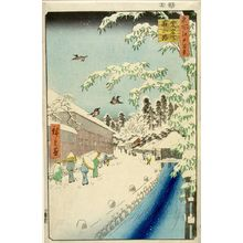 Utagawa Hiroshige: Atagoshita and Yabu Lane (Atagoshita Yabukôji), Number 112 from the series One Hundred Famous Views of Edo (Meisho Edo hyakkei), Edo period, dated 1857 (12th month) - Harvard Art Museum