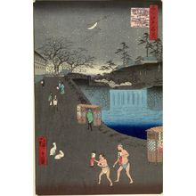 Utagawa Hiroshige: Aoi Slope, Outside Toranomon Gate (Toranomon-soto Aoizaka), Number 113 from the series One Hundred Famous Views of Edo (Meisho Edo hyakkei), Edo period, dated 1857 (11th month) - Harvard Art Museum
