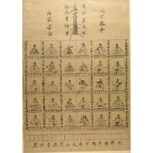 Unknown: Thirty Deified National Heroes Representing Thirty Japanese Shrines - Harvard Art Museum