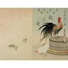 無款: Rooster, Hen and Chicks/ Parental Kindness (Oya no on), from volume 10 of Children's Literature (Shônen bungaku), by Sanmai Dôjin (a/k/a Miyazaki Sanmai), Meiji period, 1892 - ハーバード大学