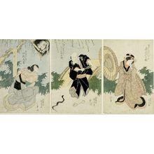 Utagawa Kunisada: Triptych: Actors - Harvard Art Museum
