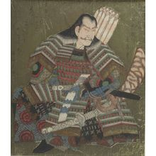 Yashima Gakutei: Taira Tadanori, from the series Six Immortal Warrior Poets (Buke rokkasen), Edo period, circa 1823-1827 - Harvard Art Museum