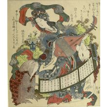 Totoya Hokkei: BENTEN PLAYING BIWA - Harvard Art Museum