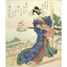 Totoya Hokkei: Courtesan Gazing at a Foreign Ship - Harvard Art Museum