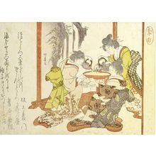 蹄斎北馬: Chinese Poet Li Bo (699-762) Drinking Sake from a Large Cup with Three Japanese Women - ハーバード大学
