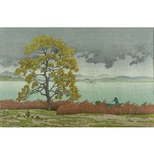 Kawase Hasui: Lake Shore of Matsue in Rain (Matsue kohan no ame), Shôwa period, dated 1932 - Harvard Art Museum