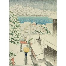 Kawase Hasui: Hill of Senko-ji (Onomichi Senko-ji no saka), Taishô period, dated 1922 - Harvard Art Museum