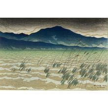 伊東深水: Hira, from the series Eight Views of Lake Biwa (ômi hakkei), Taishô period, dated 1917 - ハーバード大学