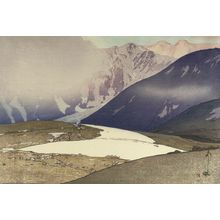吉田博: Tateyama, Bitsu Mountains (Tateyama Bessan), from the series Twelve Themes from the Japan Alps (Nihon Arupusu jûnidai), Shôwa period, dated 1926 - ハーバード大学