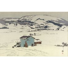 Yoshida Hiroshi: Winter in Taguchi (Taguchi no fuyu), Shôwa period, dated 1927 - Harvard Art Museum