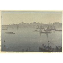 吉田博: Sumida River Mist, from the series Twelve Scenes of Tokyo (Tokyo jûnidai), Taishô period, dated 1926 - ハーバード大学