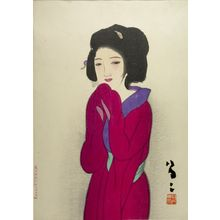 Takehisa Yumeji: Woman in Red (Kôi no onna) - Harvard Art Museum
