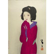 竹久夢二: Woman in Red (Kôi no onna) - ハーバード大学